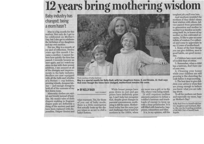 Mother's Day Column   copy