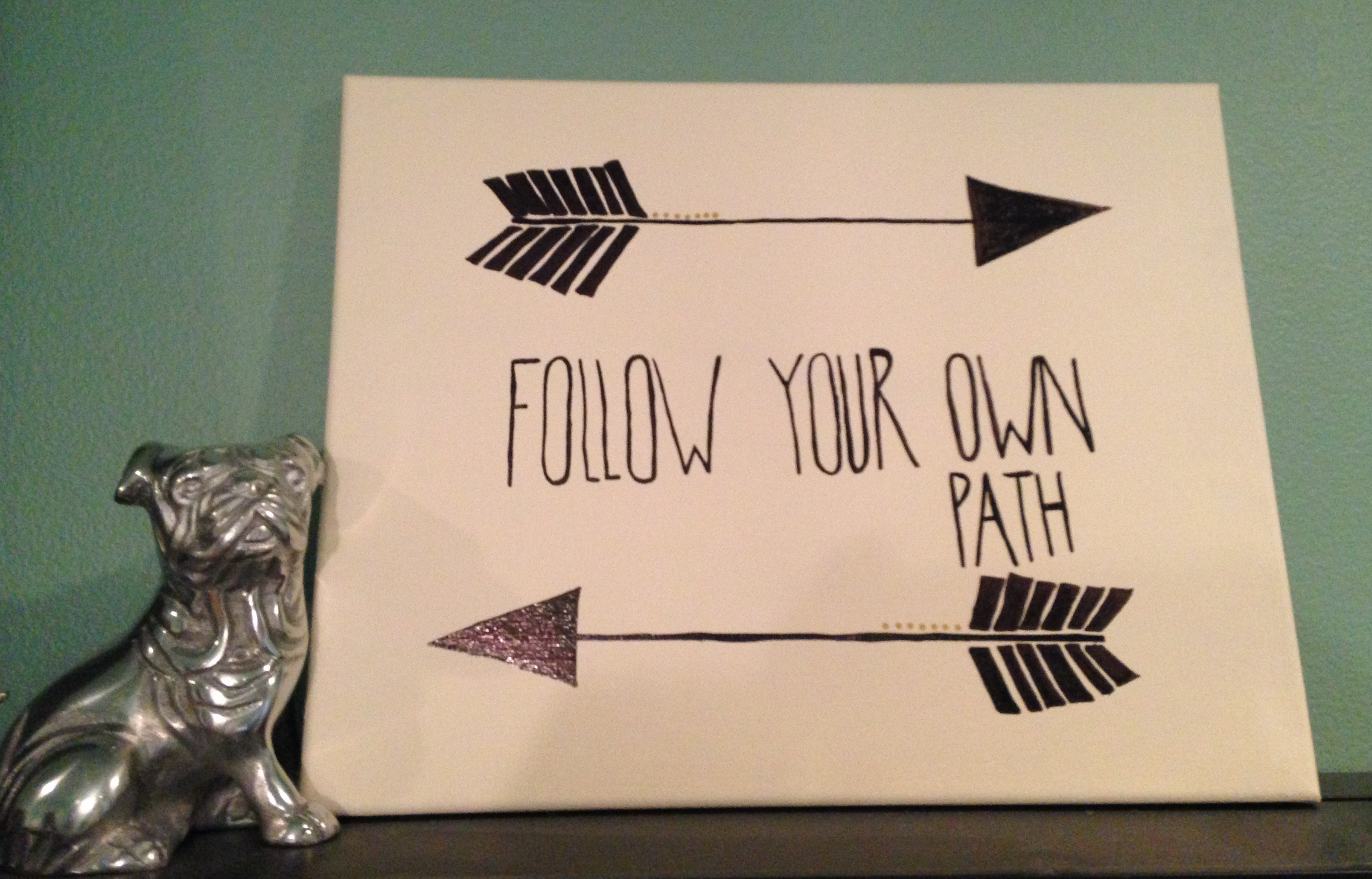 follow your own path wall art